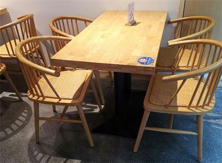 企业学校员工食堂简约时尚实木桌椅