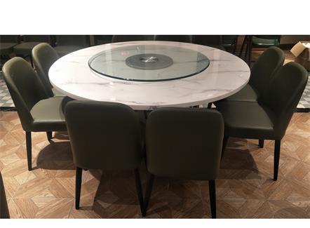 企业员工食堂包间8人位大理石桌椅