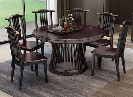 优质简约中餐厅食堂实木桌椅组合