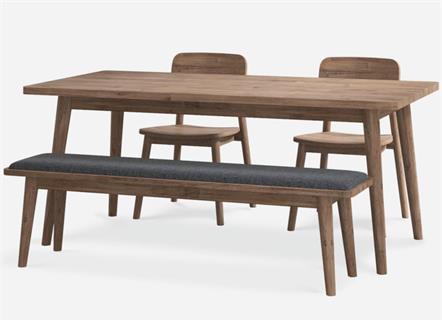 北欧全实木简约食堂桌子