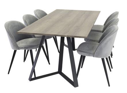 后现代极简食堂桌椅烟熏