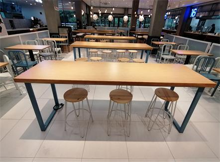 员工食堂桌椅_企业单位职工饭堂餐桌椅