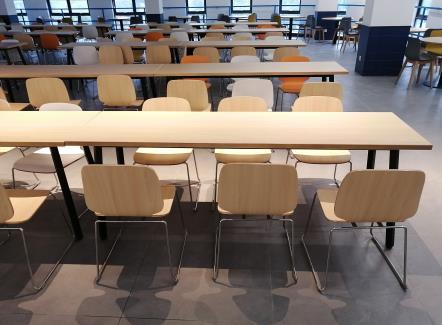 学校员工食堂餐桌椅_公司高档食堂桌椅家具