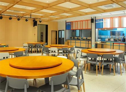 公司食堂高档食堂桌椅_企业单位员工食堂桌椅