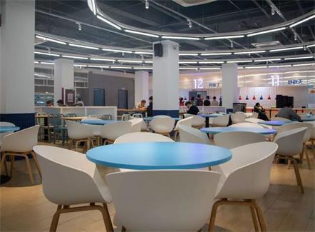 员工餐厅圆形桌椅_企业单位职工饭堂餐桌椅