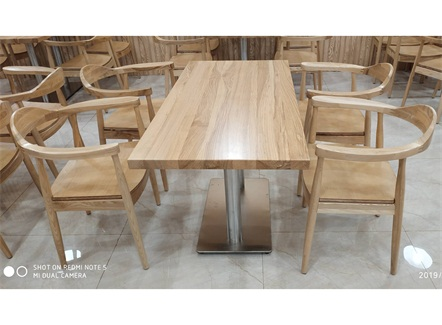 单位职工食堂专用餐桌椅_食堂分体式桌椅