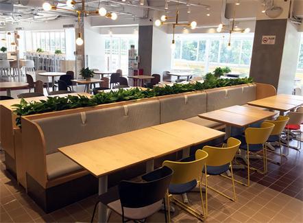 机关食堂六人位餐桌椅_员工食堂实木餐桌椅