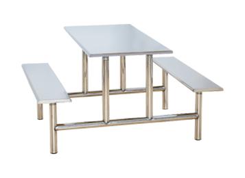 不锈钢桌面 桌脚 四人位
