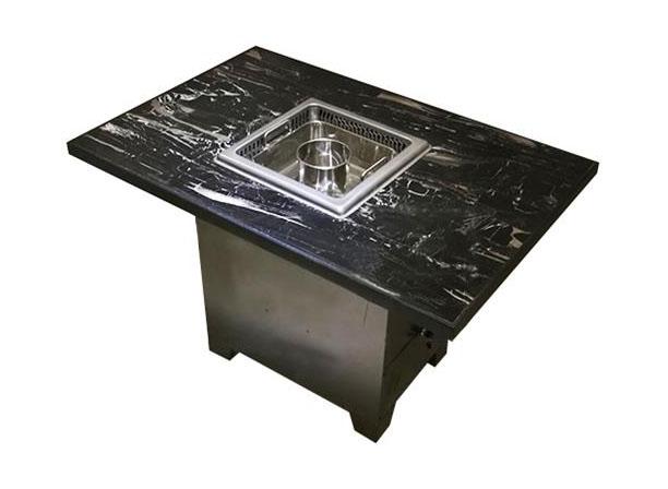 大理石电磁炉下沉式无烟火锅桌-厂家直销
