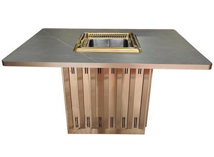 时尚餐厅智能无烟自吸烟电磁炉火锅桌