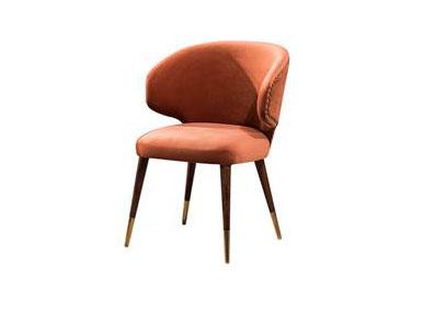 北欧创意西餐厅实木靠背椅海绵休闲椅