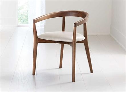 日式简餐快餐软包实木休闲餐椅