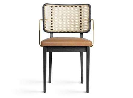西式餐厅时尚不锈钢藤编休闲椅子