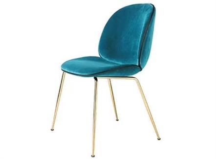 甲壳虫餐椅西餐厅现代简约轻奢风格铁艺餐椅
