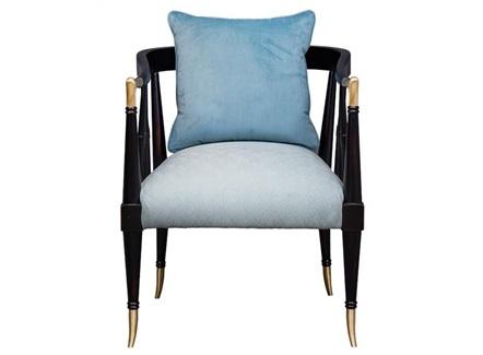 西餐牛扒店实木软包休闲椅子