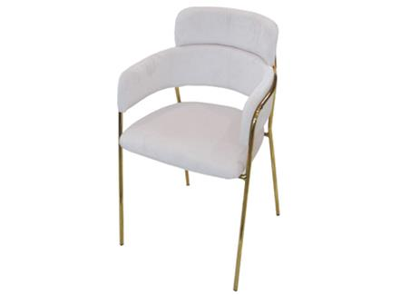 北欧轻奢风铁艺西餐厅椅