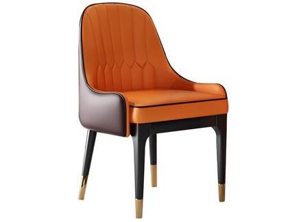 现代轻奢餐椅北欧实木皮
