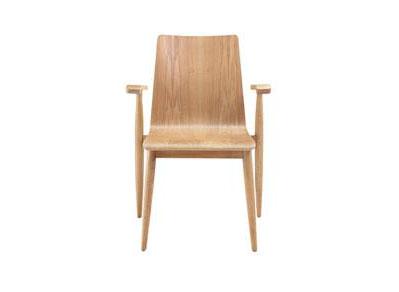 北欧实木餐椅现代白橡木西餐椅