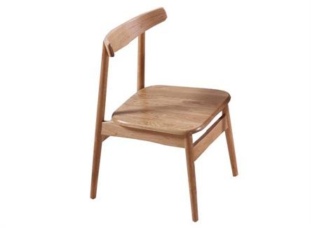 快餐简餐店现代简约靠背实木餐椅