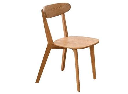中式简餐快餐优质白橡木时尚实木餐椅
