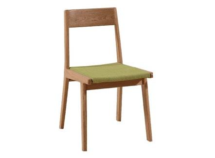 奶茶餐厅时尚简约实木布艺靠背椅