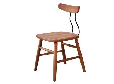 西式简餐快餐店现代简约实木靠背椅