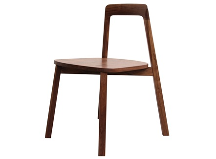 咖啡店简餐现代简约黑胡桃实木靠背椅