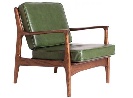 咖啡店甜品店牛皮软包休闲扶手椅