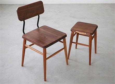 中式简餐快餐原创时尚实木铁艺餐椅