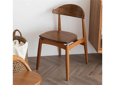 咖啡店饮品店全实木简约靠背椅子
