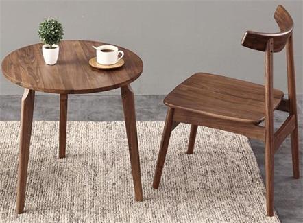 咖啡馆甜品店休闲全实木牛角椅