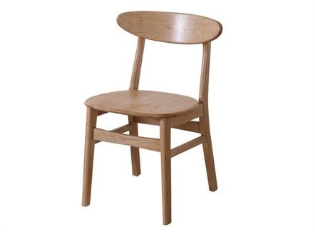 快餐简餐店现代实木简约靠背椅