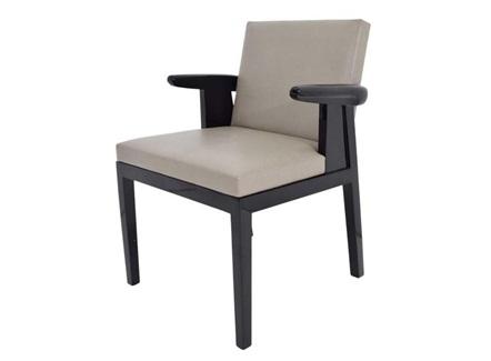 西式简餐实木软包座垫靠背椅