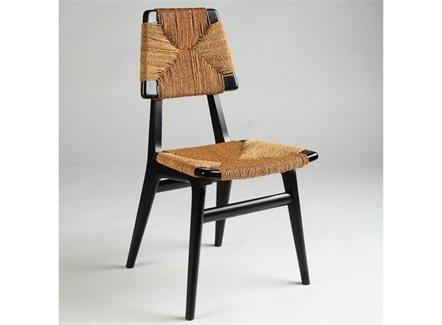 咖啡厅藤编实木时尚休闲椅子