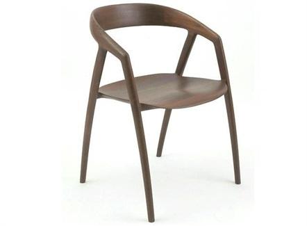 西餐厅咖啡厅现代简约实木靠背椅