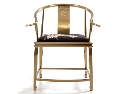 西餐厅不锈钢休闲皮革座垫围椅