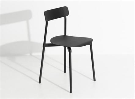 中式简餐现代极简风格铁艺靠背椅