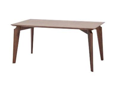实木原木黑胡桃木西餐桌