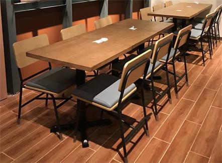 西餐厅实木方桌定做牛排