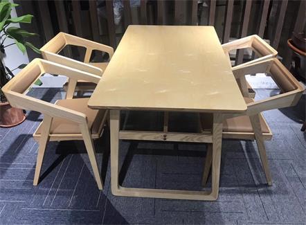 北欧全实木餐桌椅组合西餐厅休闲桌椅-厂家定做