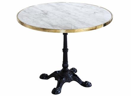 西餐厅茶餐厅大理石餐桌_不锈钢大理石圆形餐桌