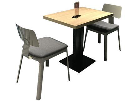 西餐厅奶茶甜品店休闲实木餐桌椅