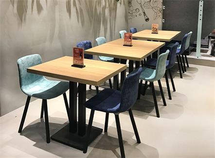 网红店奶茶店快餐店西餐厅实木桌椅