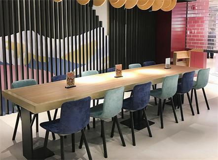 多人位肯德基麦当劳快餐厅西餐店实木桌椅