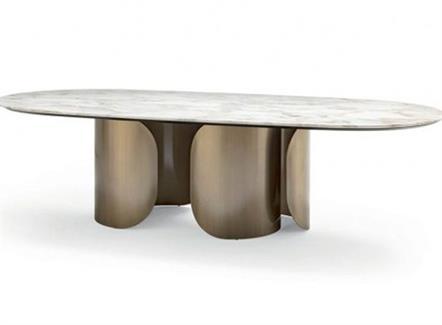 豪华西餐厅音乐主题餐厅简约轻奢不锈钢桌子
