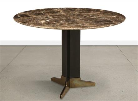 北欧高档铁艺大理石西餐桌