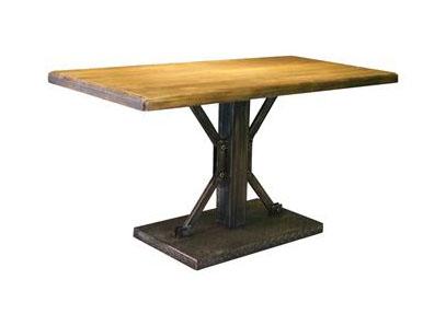 复古怀旧实木西餐厅餐桌