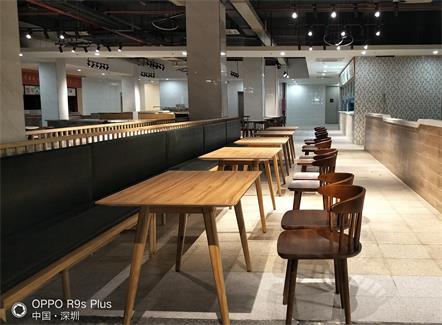 富士康集团员工食堂桌椅家具定做