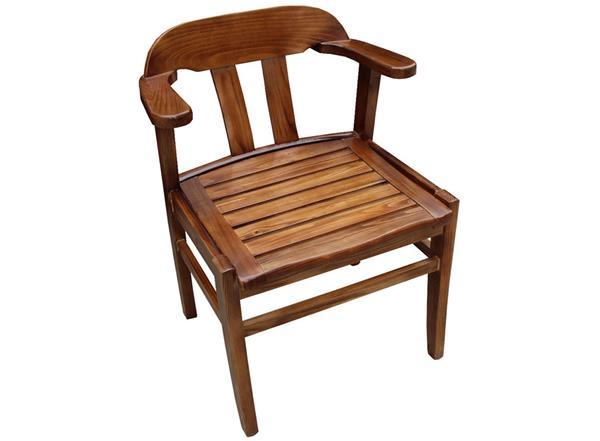 餐馆饭店中式实木扶手靠背椅子