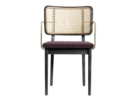 湘菜馆创意实木轻奢带扶手餐椅